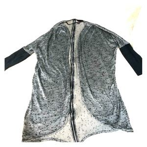 Material Girl gray and black cardigan. Like new